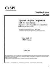Egyptian diaspora cooperation with the homeland - CeSPI