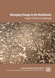 Managing Change in the Marshlands: - United Nations Country ...