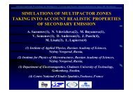 SIMULATIONS OF MULTIPACTOR ZONES TAKING INTO ... - Esa