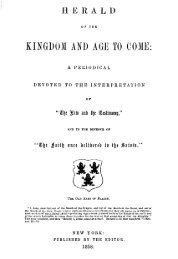 The Herald of the Kingdom and Age to Come - 1858