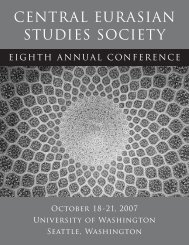 2007 Annual Conference - Central Eurasian Studies Society (CESS)