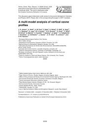 A multi-model analysis of vertical ozone profiles - ACPD