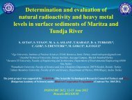 Determination and evaluation of natural radioactivity ... - insinume2012