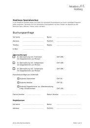 Buchungsanfrage - Rehaklinik Hasliberg
