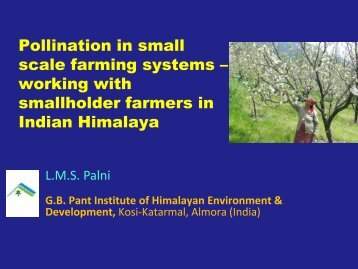 Pollination in small scale farming systems – working with ...