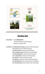 EDITORIAL TEAM - acharya ng ranga agricultural university