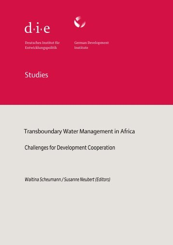 Transboundary Water Management in Africa - ETH Zürich