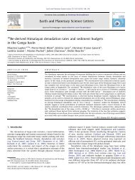 10Be-derived Himalayan denudation rates and sediment budgets in ...
