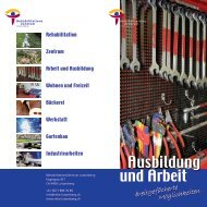 Info-Flyer Ausbildung und Arbeit - RehabilitationsZentrum Lutzenberg