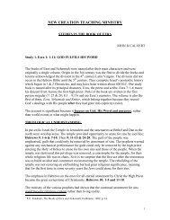 Ezra - New Creation Teaching Ministry