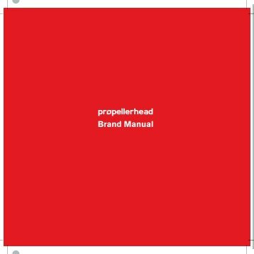 Download brand manual - Propellerhead