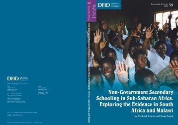 Non-Government Secondary Schooling in Sub-Saharan Africa ...