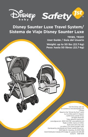 Disney Saunter Luxe Travel System - Safety 1st - Dorel Juvenile Group