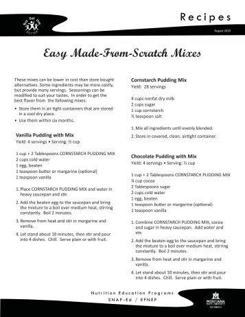 recipe mixes.indd - MSU Extension