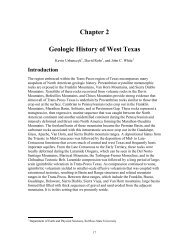 Chapter 2 Geologic History of West Texas - Texas Water ...