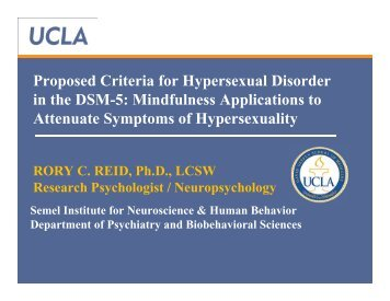 Proposed Criteria for Hypersexual Disorder in the DSM-5 ... - Ivo