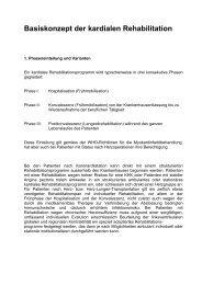 Basiskonzept der kardialen Rehabilitation - Physiofit Ryser