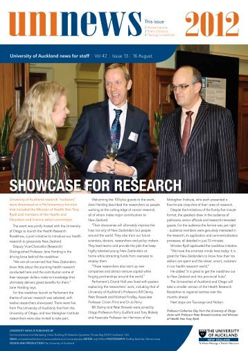 SHOWCASE FOR RESEARCH - The University of Auckland