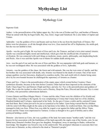 Mythyology List bigu-0.pdf - Mayfield City School District
