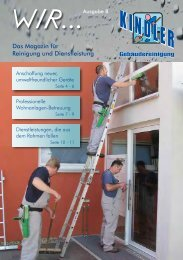 WIR-Magazin Ausgabe 08 - Kindler Gebäudereinigung GmbH