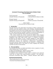 578 Automatic Processing of technical texts in Modern Greek: Term ...