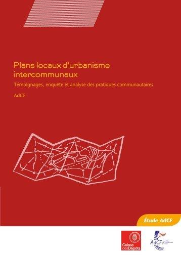 Plans locaux d'urbanisme intercommunaux