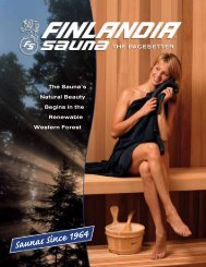 E-Brochure - Finlandia Sauna Products, Inc.