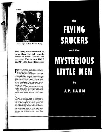 Had flying saucers manned by crews three feet vtall actually