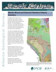 Spring 2010 Rock Chips - Alberta Geological Survey