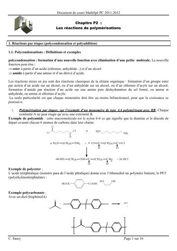 cours polymere 2