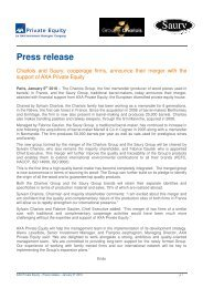 Press release Charlois-Saury 06 01 2010 - Axa Private Equity