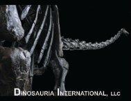 new brochure - Dinosauria International
