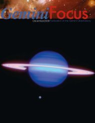 Issue 39, December 2009 (4MB) - Gemini Observatory