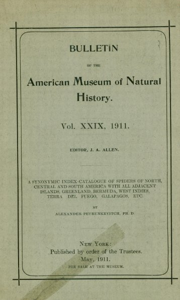 Ralph W. Tower - American Museum of Natural History