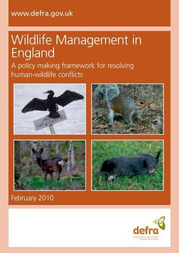 Wildlife Management in England - ARCHIVE: Defra