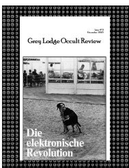 :: Grey Lodge Occult Review :: #9