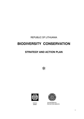 Biodiversity Conservation Strategy and Action Plan - Aplinkos ...