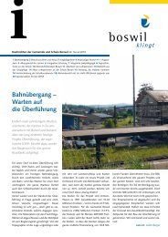 Bahnübergang – Warten auf die Überführung - Boswil
