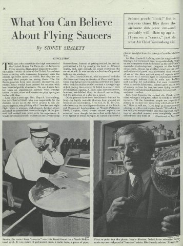 What You Can Believe About Flying Saucers - Nicap
