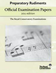 Preparatory Rudiments - RCM Examinations