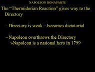 """The """"Thermidorian Reaction"""" gives way to the Directory –Directory is ..."""