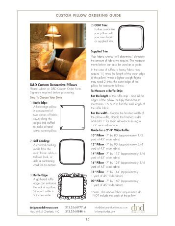 Custom pillow ordering guide - Design and Deliver USA