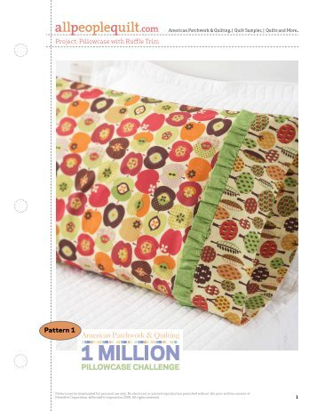 Project: Pintuck Pillowcase Pattern 20 - People Quilt : all people quilt pillowcase - Adamdwight.com