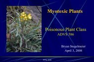 Poisonous Plant Class Myotoxic Plants