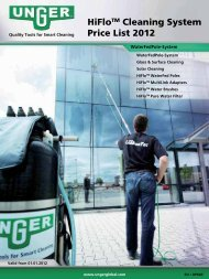 HiFloTM Cleaning System Price List 2012