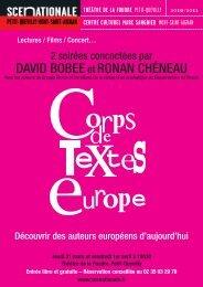 Programme Rouen - Corps de Textes Europe