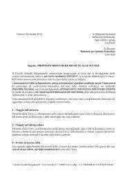 Proposte didattiche per le scuole - Circolo Astrofili Bergamaschi