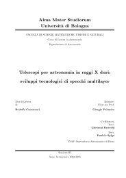 Alma Mater Studiorum Universit`a di Bologna Telescopi per ...