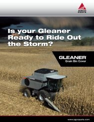Is your Gleaner Ready to Ride Out the Storm? - AGCO Parts