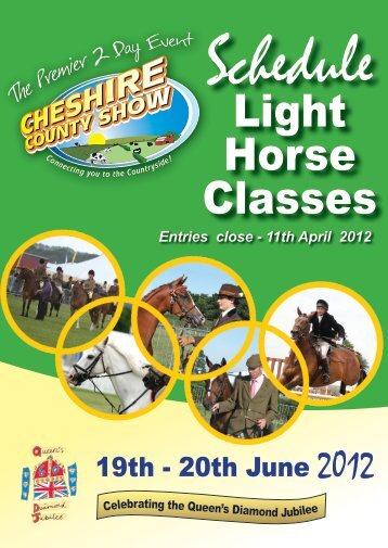 Light Horse Schedule 2012.indd - Cheshire County Show